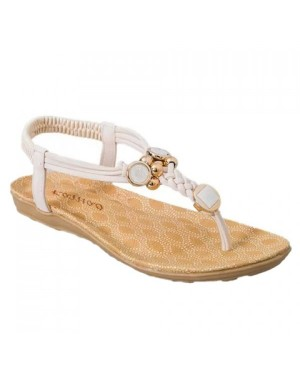 Simple Style Women's Sandals With Weaving and Metal Design