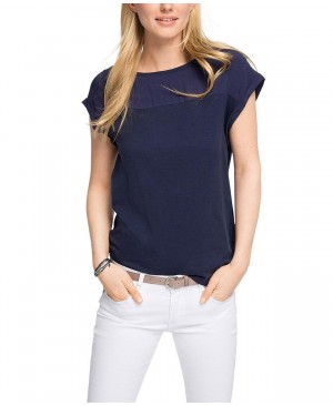 Esprit im Materialmix - T-Shirt - Femme
