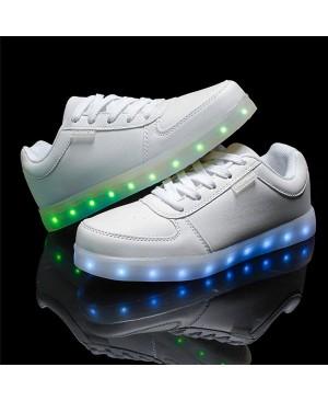 DoGeek LED Baskets enfants Unisexe Chaussures Hommes Femme Blanc Chaussures lumineux