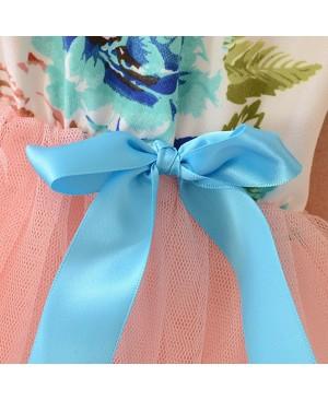 Etosell Robe d'été Sans Manchester Floral Arc Jupe Plissé en Tulle pour Enfant Fille 2-6 ans