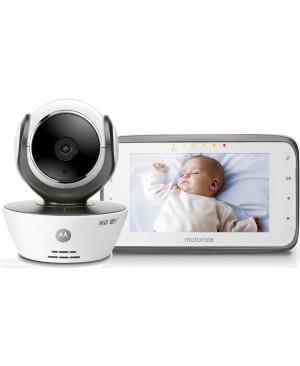 """Motorola Babyphone Vidéo connecté Wi-Fi avec écran 4,3"""" - MBP854 Connect Blanc"""