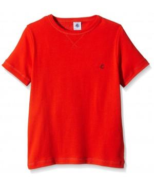 Petit Bateau 16749 - T-shirt - Uni - Col ras du cou - Manches courtes - Garçon