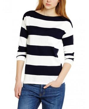 Esprit 015EE1I011 - Sweat-shirt - À rayures - Manches longues - Femme