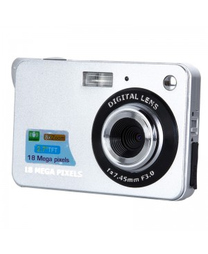 18 Mega Pixels CMOS 2.7 polegada TFT écran HD 720 P appareil Photo numérique 8x Zoom SD carte Anti - shake Photo vidéo caméscope haute qualité
