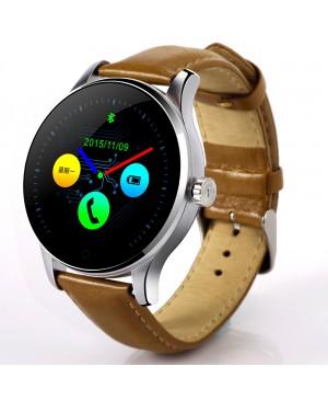 Lemfo K88H Bluetooth montre Smart Watch classique Metal energie Smartwatch moniteur de fréquence cardiaque pour Android ISO téléphone à distance caméra horloge