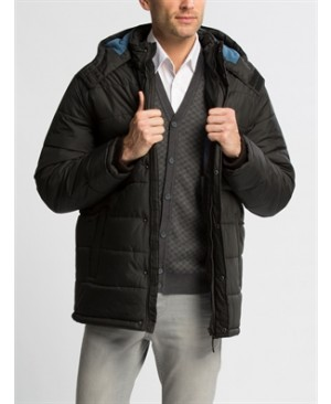 Black Standard Heavyweight Midi Short coat