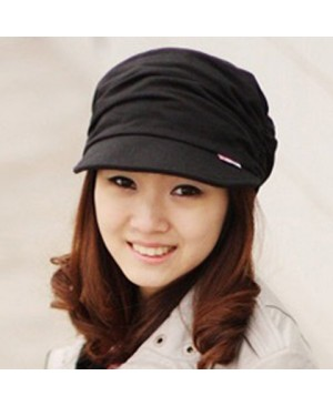 Stylish Ruched and Solid Color Design Visor For Women