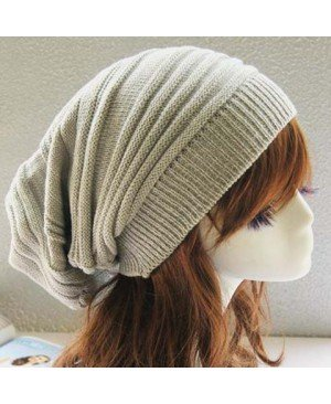 Stylish Color Block Elastic Knitted Hat For Women