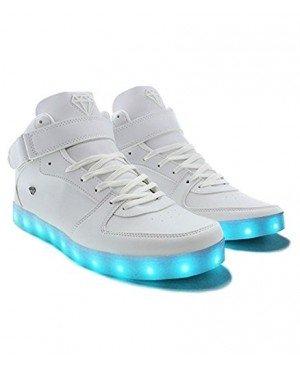 Cash Money - Baskets lumineuses LED - Chargeur USB - 7 couleurs