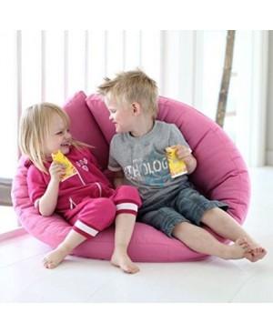 NEST, Fauteuil futon convertible pour enfants : douillet, pratique, et confortable - Aspect lin / Bouton Aspect lin
