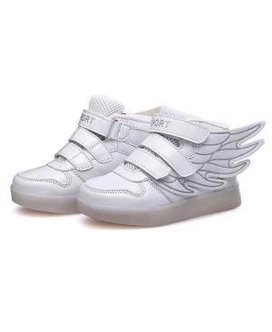 COOLER®Baskets Lumineuses Chaussures de Sport Clignotantes avec 7 Couleurs LED Colorés Style d'ailes d'ange pour Fille Garçon