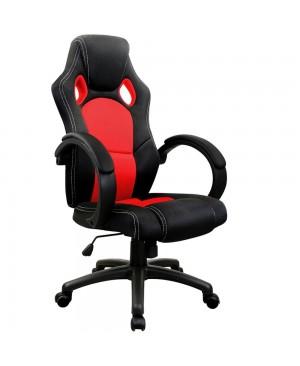 Chaise de bureau sport Fauteuil - siege baquet - rouge et noir - réglable en hauteur