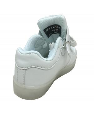 Minetom Unisexe Enfants Garçons Filles Chaussures USB Charge LED Lumière Lumineux Fluorescence Clignotants Chaussures de Sports Baskets