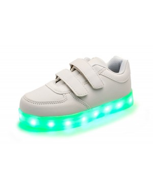 678bb95cc00cc Minetom Unisexe Enfants Garçons Filles Chaussures USB Charge LED Lumière  Lumineux Fluorescence Clignotants Chaussures de Sports ...