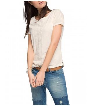 Esprit 026EE1K030 - T-shirt - Imprimé aztèque - Manches courtes - Femme