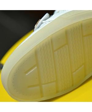 DoGeek LED Blanc Baskets Montantes Hommes Femmes Enfants LED 7 Couleurs Chaussures