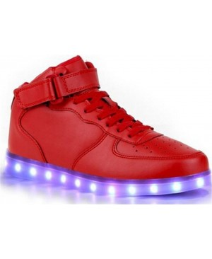 Agrass - 7 Couleur Mode Unisexe Homme Femme USB Charge LED Lumière Lumineux Clignotants Chaussures de marche Chaussures de Sports Baskets LED High Top Chaussures