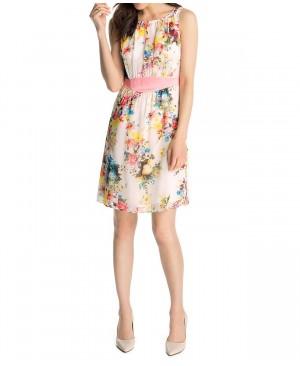 Esprit Collection 045Eo1E027 - Robe - Trapèze - À fleurs - Sans manche - Femme
