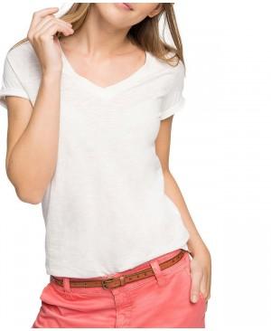 Esprit 046EE1K004 - T-shirt - Uni - Manches courtes - Femme