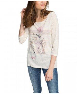 Esprit mit Blumendruck - T-Shirt Manches Longues - Femme