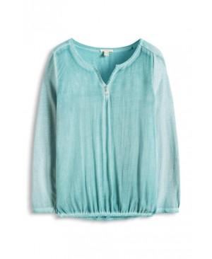 Esprit im Material-Mix - T-Shirt À Manches Longues - Femme