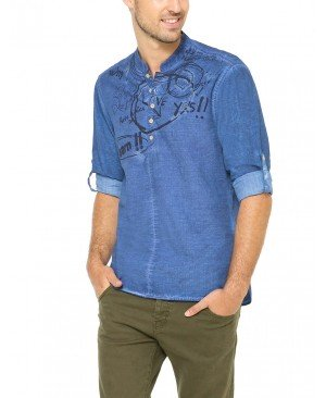 Desigual Mao - Chemise casual - Taille normale - Manches longues - Homme