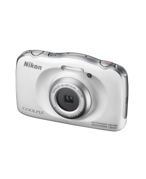 """Nikon Coolpix S33 Appareil photo numérique compact 13,2 Mpix Écran LCD 2,7"""" Zoom optique 3X Blanc"""