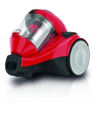 Dirt Devil DD2324-4 Func-4.1 Aspirateur sans Sac Cyclonique + Brosse Parquet/Mini Turbo Rouge [Classe énergétique B]