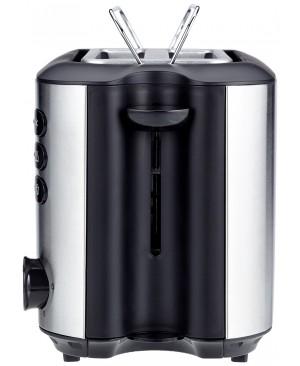 AmazonBasics Grille-Pain 850 W 2 Fentes Acier Brossé Inoxydable
