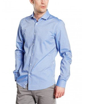 United Colors of Benetton Polka Dot Slim Fit - Chemise Business - Manches Longues - Homme