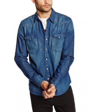 Levi's Barstow Western - Chemise Casual - Coupe droite - Manches longues - Homme