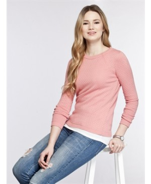 Damson Colour Solid Lightweight Crew Neck Cardigan