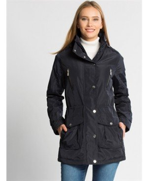 Navy Midi Short coat