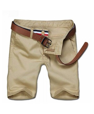 Men's Casual Solid Color Zipper Shorts