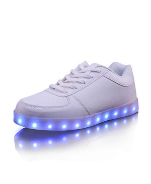 DoGeek LED Baskets enfants Unisexe Chaussures Hommes Femme Blanc Chaussures lumineux