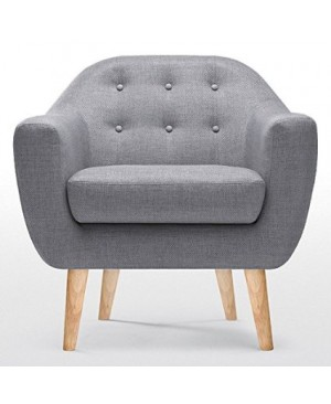 Fauteuil design scandinave gris