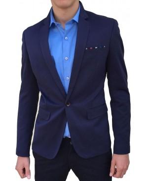 Veste de costume Homme Bleu Revers crante blaz_fd_638