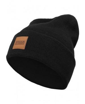 Urban Classics - Bonnet D'Hiver Ecusson Logo En Cuir