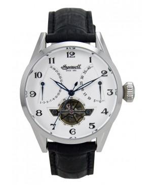 Ingersoll - IN6901WH - Montre Homme - Automatique Analogique - Cadran Blanc - Bracelet Cuir Noir