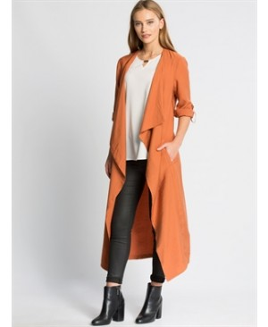 Orange Long Trenchcoat